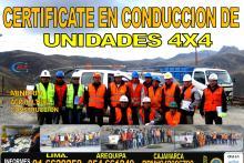 CERTIFICACION DE OPERADORES DE UNIDADES 4X4.